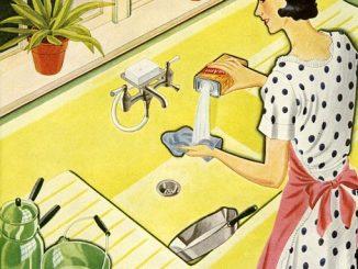 Le nettoyage de la cuisine